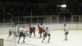 Max Grondin scores in OT to give team White 4-3 overtime win over team Blue in annual Spirit Blue White game