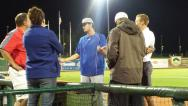 Former SVSU pitcher Mike Ellenbest was at his