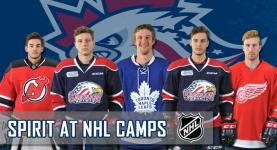 Five Spirit players are heading out to NHL training camps for Detroit, New Jersey, and Toronto