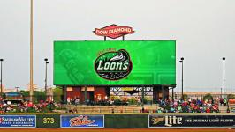 Loons announce addition of massive new video scoreboard at Dow Diamond for the 2018 season