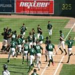Great Lakes Loons in 2016 Midwest League Playoffs after Walk Off Win