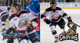 Hayden Hodgson and Filip Hronek make the jump to the American Hockey League