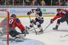 Spirit come out flat and give up 3 first period goals in 5-1 loss to the Windsor Spitfires